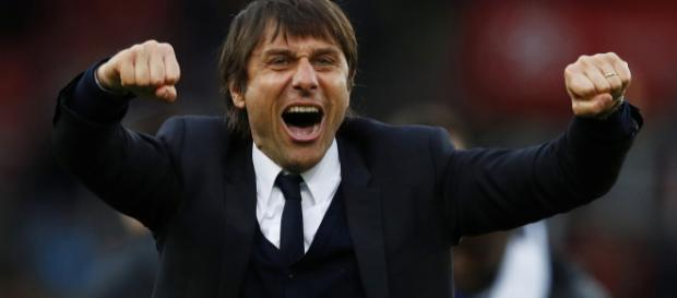 Chelsea manager Antonio Conte celebrates after his team secured a win in the past. (Image Credit: Khanh Huy/Flickr)