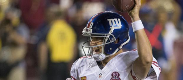Eli Manning has 210 consecutive starts for the Giants (Image Credit: Keith Allison/WikiCommons)