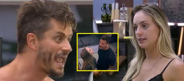 Marcos acusa Monick de ter DST e ela cospe no peão