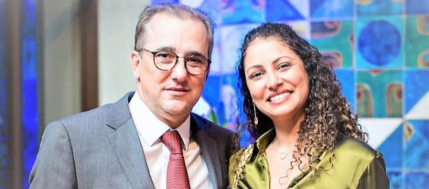 Ministro Admar Gonzaga do TSE acompanhado da esposa, Élida Matos