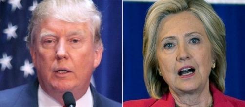 Donald Trump, Hillary Clinton, via Twitter