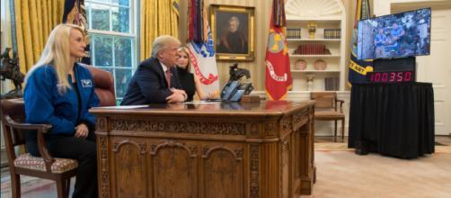 Donald Trump in office - Image credit NASA HQ PHOTO | Flickr