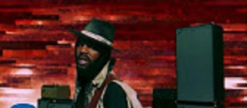 "Gary Clark Jr. brought intensity, passion, and power to performance of ""Come Together"" on James Corden's stage. Screencap garyclarktv/YouTube"