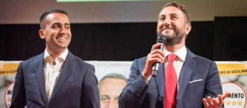 Il candidato premier Di Maio con il candidato governatore, Cancelleri