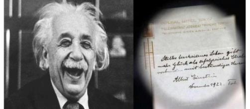 O segredo de Einstein para a Felicidade – Uma 'gorjeta' que vale mais de 1 milhão de euros''