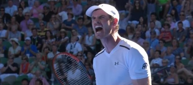 Andy Murray during the 2017 Australian Open/ Photo: screenshot via Australian Open TV channel on YouTube
