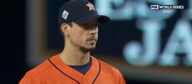 Charlie Morton ready to get the final out of the World Series - image - MLB/Youtube
