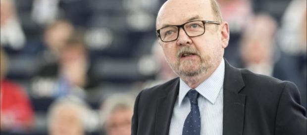 Prof. Legutko w Parlamencie Europejskim (fot. polityka.pl)