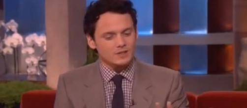 Anton Yelchin and Felicity Jones on 'Ellen.' - [Ellen / YouTube screencap]