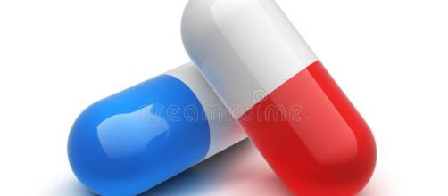 Pillola rossa e blu illustrazione di stock. Immagine di isolato ... - dreamstime.com