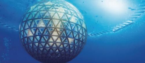 Recreación de Ocean Spiral bajo el mar