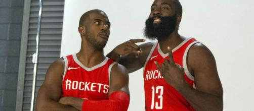 See Chris Paul being the best hype man for James Harden after ... - usatoday.com