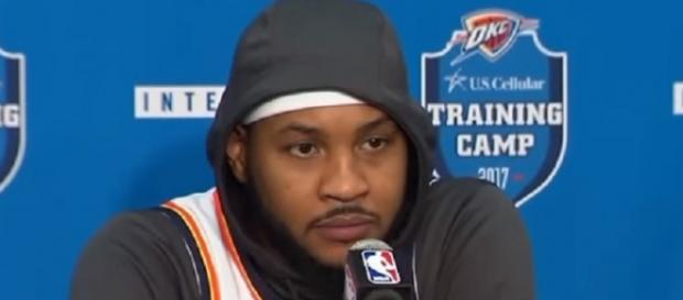 Carmelo Anthony is averaging 19.7 points and 6.2 rebounds this season. - [Image Credit: ESPN/YouTube]