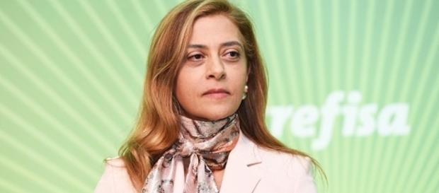 Empresária Leila Pereira (patrocinadora do clube)