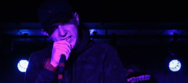 Hip Hop artist Jay Gudda performing live. [image source: with permission of Jay Gudda]