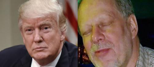 Donald Trump, Stephen Paddock, via Twitter