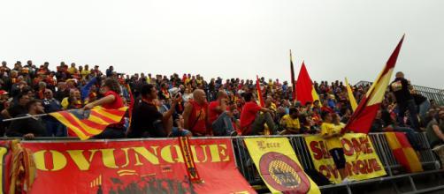 I tifosi del Lecce in trasferta.