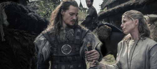 Uhtred and Hild in 'The Last Kindgom' [Image via Netflix Media Center with permission]