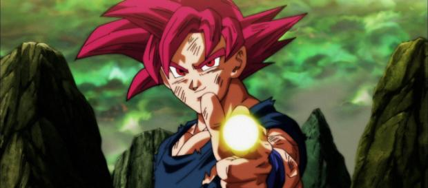 Goku en Super Saiyajin Dios vs Kefura