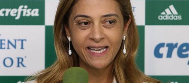 Leila Pereira é responsável pelo patrocínio no Palmeiras