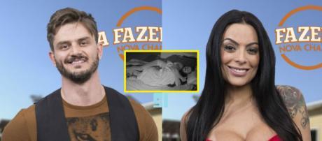 """""""Fazenda"""": Marcos Harter """"vai para cama"""" com Monique Amim e ela se explica com Minerato"""