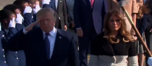 Donald Trump, Melania Trump arrive in Japan, via Twitter