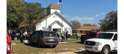 First Baptist Church in Sutherland Springs, Texas [Image Credit: Charlton/YouTube screencap]