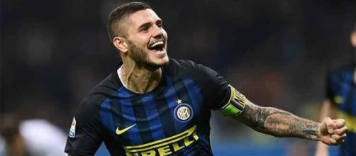 Inter captain Mauro Icardi celebrates his goal in a past match. (Image Credit: Nazionale Calcio/Flickr)