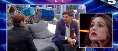 La reazione di Francesco Monte in tv