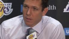 Los Angeles Lakers coach Luke Walton is happy with the performance of his team