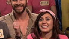 Miley Cyrus shares passionate song, plays games with Liam Hemsworth on 'SNL'