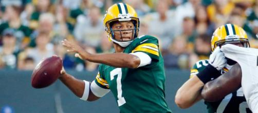 Brett Hundley leads the Packers into action tonight against the Detroit Lions. [Image via NFL/YouTube]