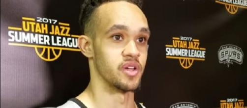Derrick White played four games for the Spurs this season (Image Credit: Karl Schoening/YouTube)
