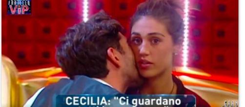 GF VIP: la reazione di Cecilia ai video hot