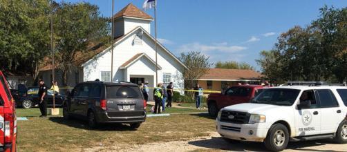 La chiesa battista dove il killer ha aperto il fuoco