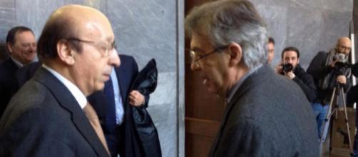 """la Pallonata"""" - Moggi e Moratti, la stretta di mano di due nemici ... - panorama.it"""