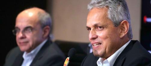 Presidente e técnico do Flamengo
