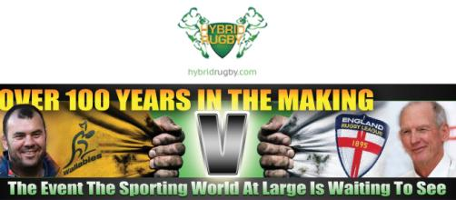 Wallabies vs Engand RL Hybrid Rugby