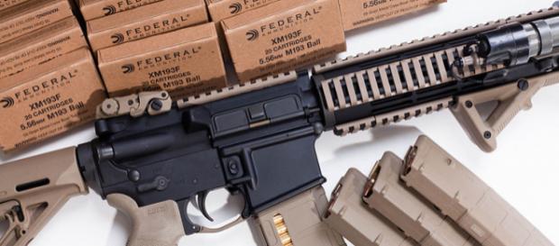 AR-15 style rifle (Image Credit: Docmonstereyes/Wikimedia Commons)