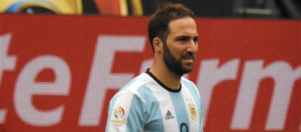 Juventus striker Gonzalo Higuain during an assignment with his national team in the past. (Image Credit: Michael/Flickr)