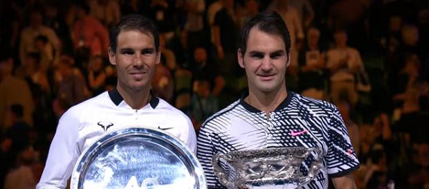 Nadal and Federer after the 2017 Australian Open final/ Photo: screenshot via Australian Open TV channel on YouTube