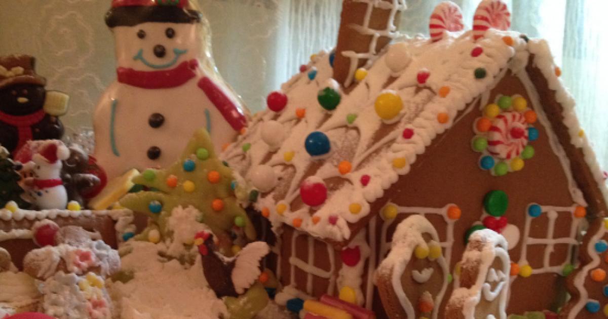 Casetta Di Natale Con Biscotti : Casetta di pan di zenzero per un natale magico