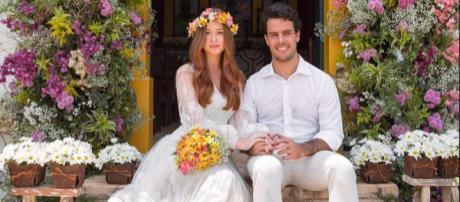 Marina Ruy Barbosa e Xande Negrão comemoram 1 mês de casados