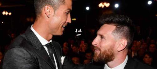 Cristiano Ronaldo com Leo Messi