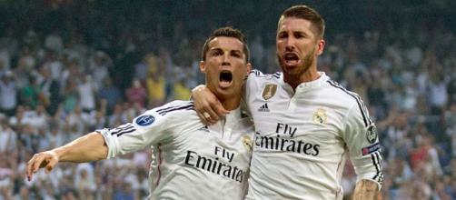 Cristiano Ronaldo com Sergio Ramos