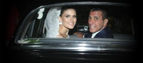 Eri Johnson e Alice Souto se casaram em abril do ano passado (Foto - Marcello Sá Barretto e Anderson Borde)
