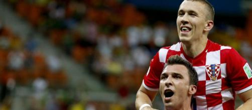 Ivan Perisic e Mario Mandzukic, a caccia di un posto ai Mondiali con la Nazionale croata
