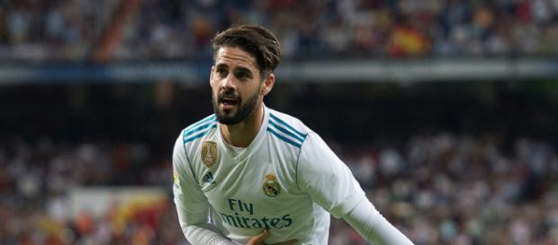 Isco celebrando un gol en el Bernabéu esta temporada