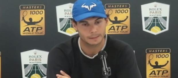 Rafael Nadal during a press conference in Paris. (Image Credit: Tennis TV channel/YouTube)