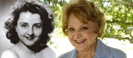 A atriz Eva Todor jovem e nos dias de hoje
